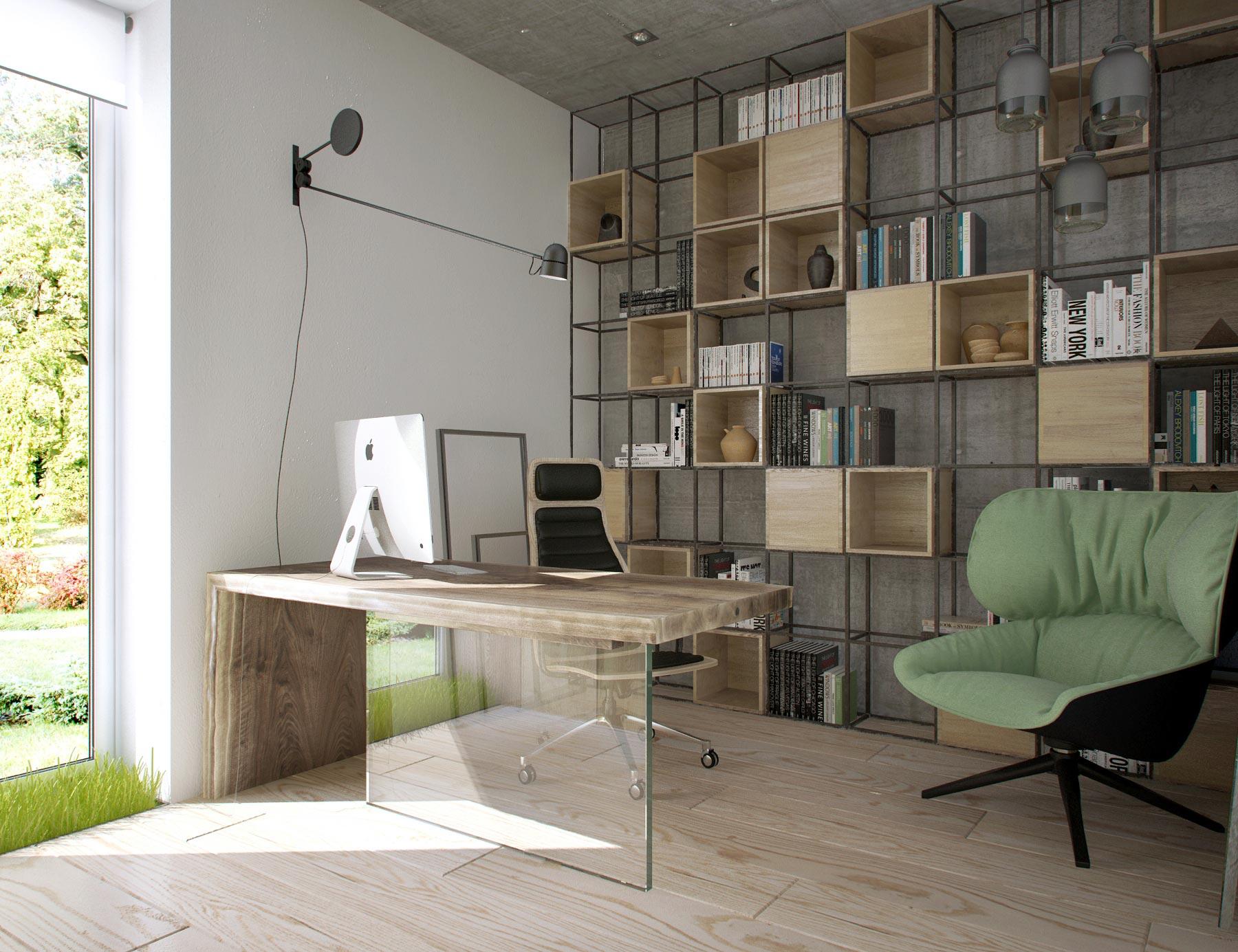 кабинет в эко стиле